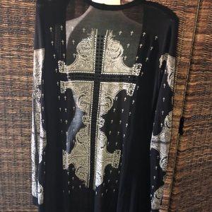 Vocal cardigan Black embellished lightweight